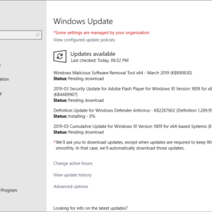 windows update 2019 march