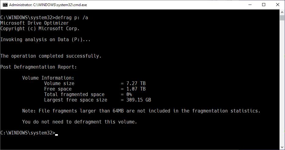 defrag optimize drives
