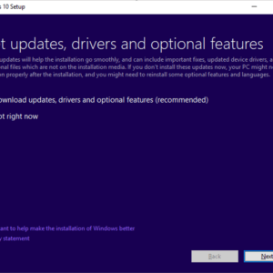 dynamic updates windows 10