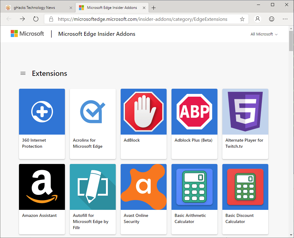 These Extensions are exclusive to the Chromium-based Microsoft Edge