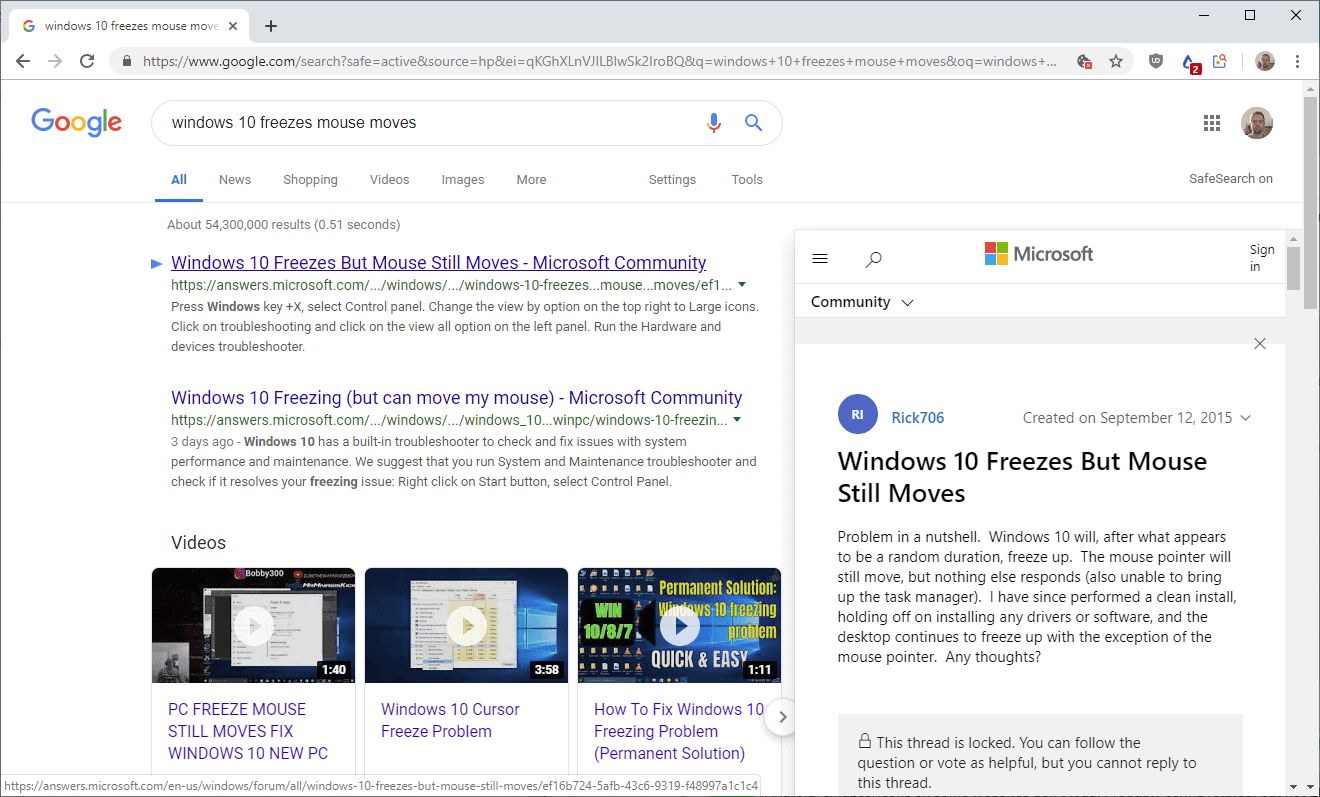 google chrome google results previewer