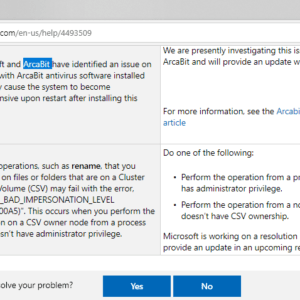 known issues windows 10