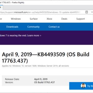 microsoft updates windows april 2019