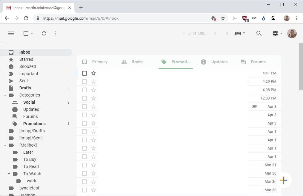 simplify gmail