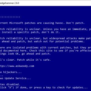 sledgehammer control windows updates