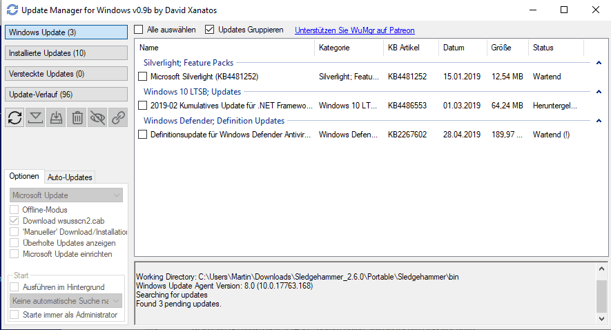 update manager for windows