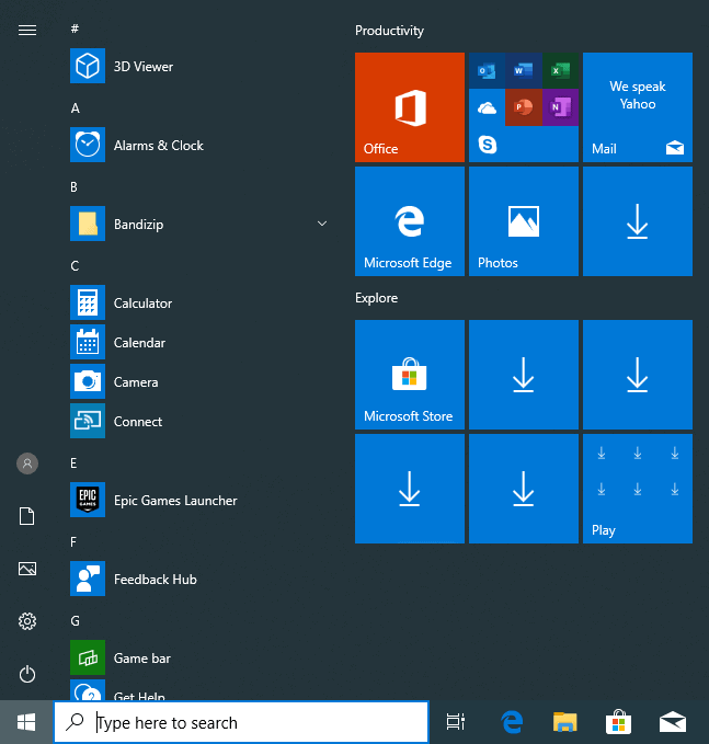 windows 10 1903 apps games