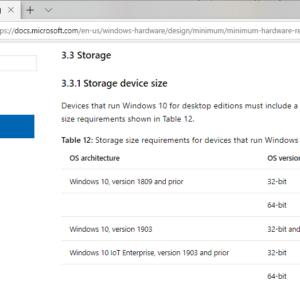 windows 10 1903 minimum storage requirement