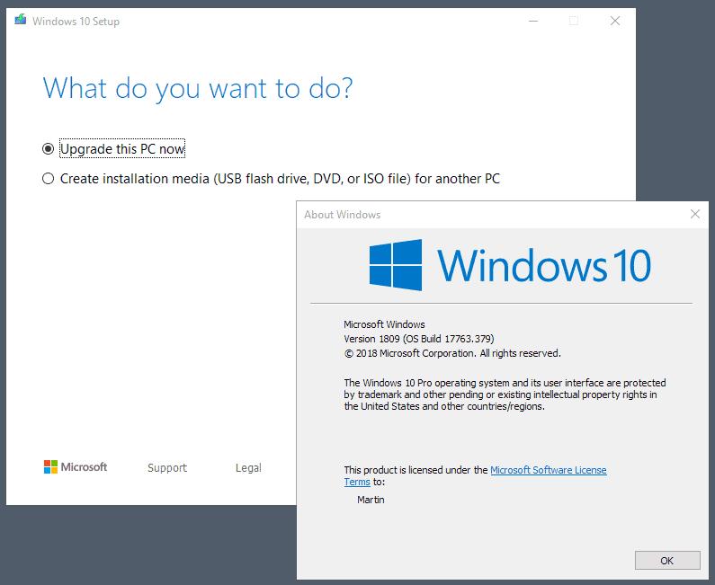 windows 10 may 2019 upgrade