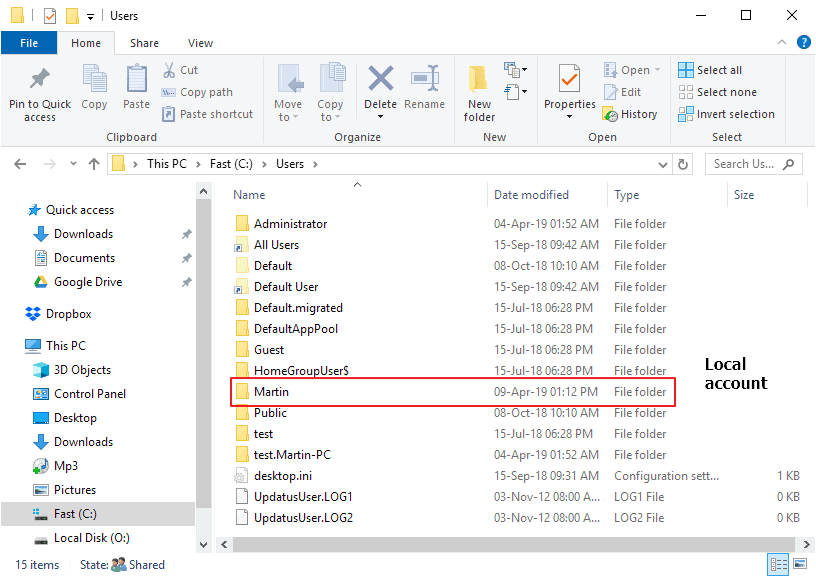 windows 10 user folder name