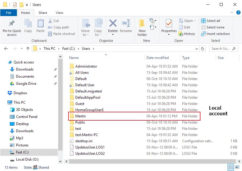 windows 10 user folder name