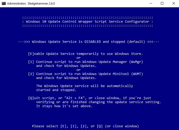windows update control