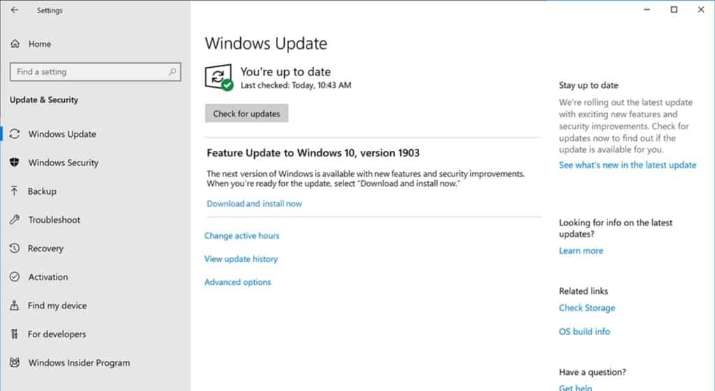 windows 10s may update