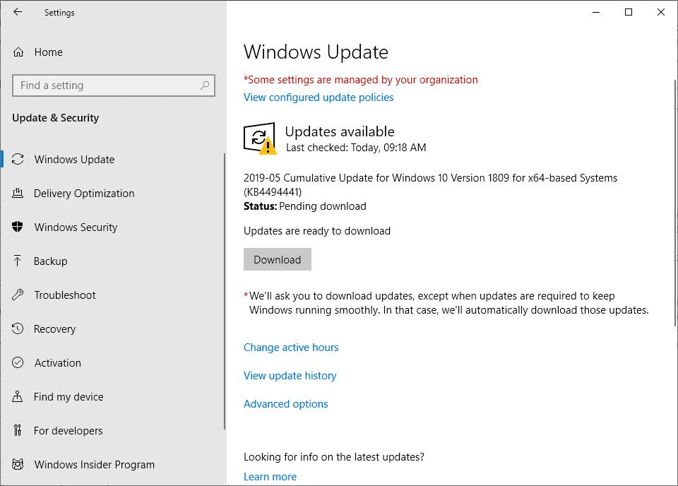 KB4494441 installs twice