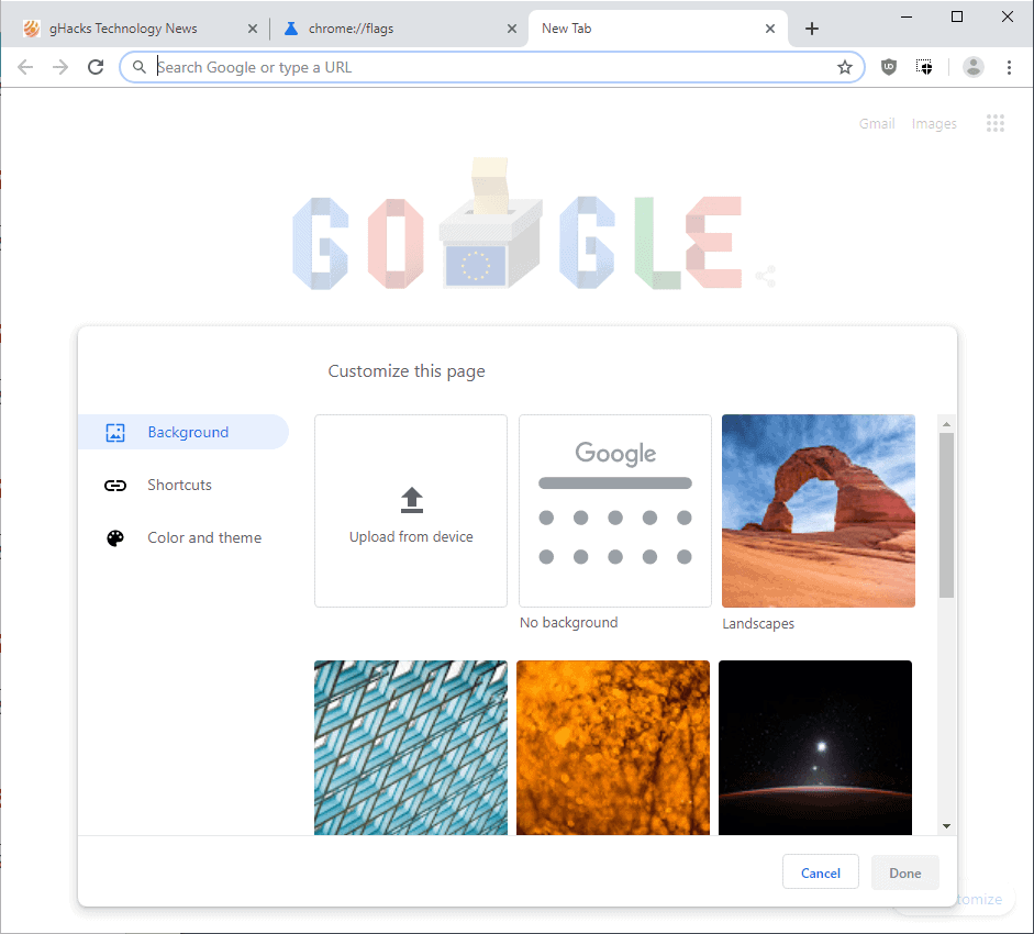 Google Chrome's New Tab Page may soon get a customization
