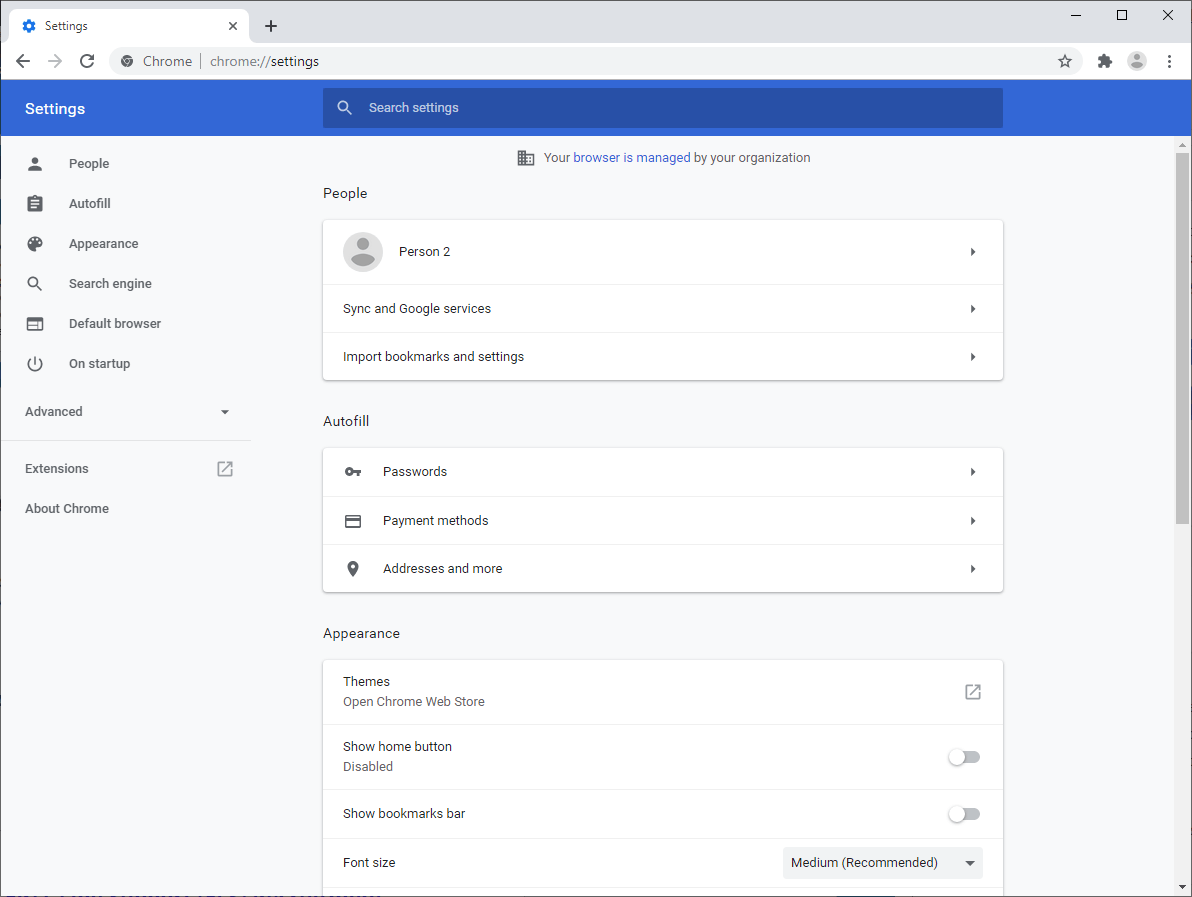 Google Chrome: new Settings page lands in Canary