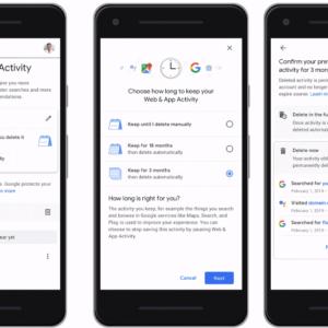 google delete activity automatically
