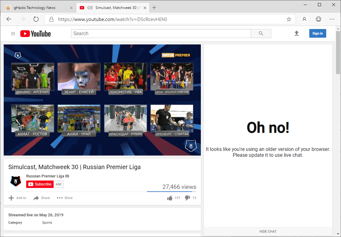 New YouTube features blocked for Microsoft Edge preview users