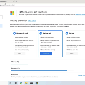 microsoft-edge privacy tools concept