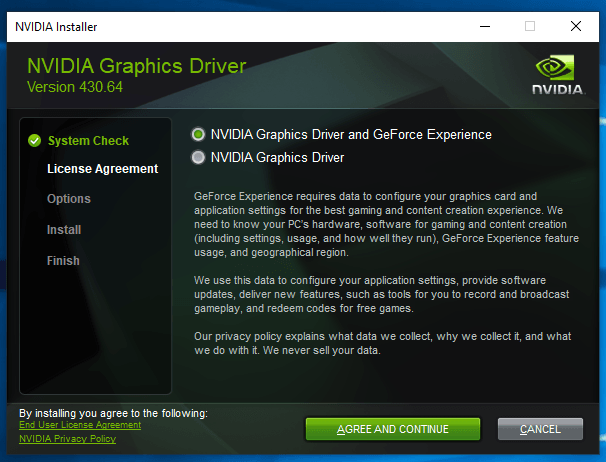Nvidia GeForce Driver 430 64 fixes high load issue and