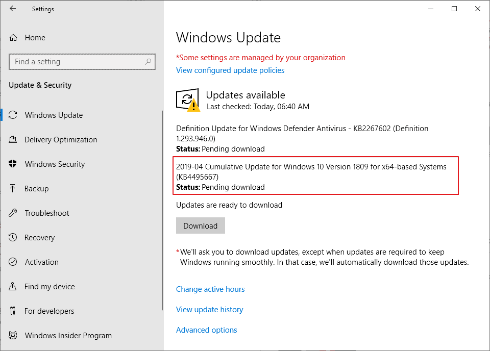 Windows 10 1809 language pack problem, Microsoft recommends