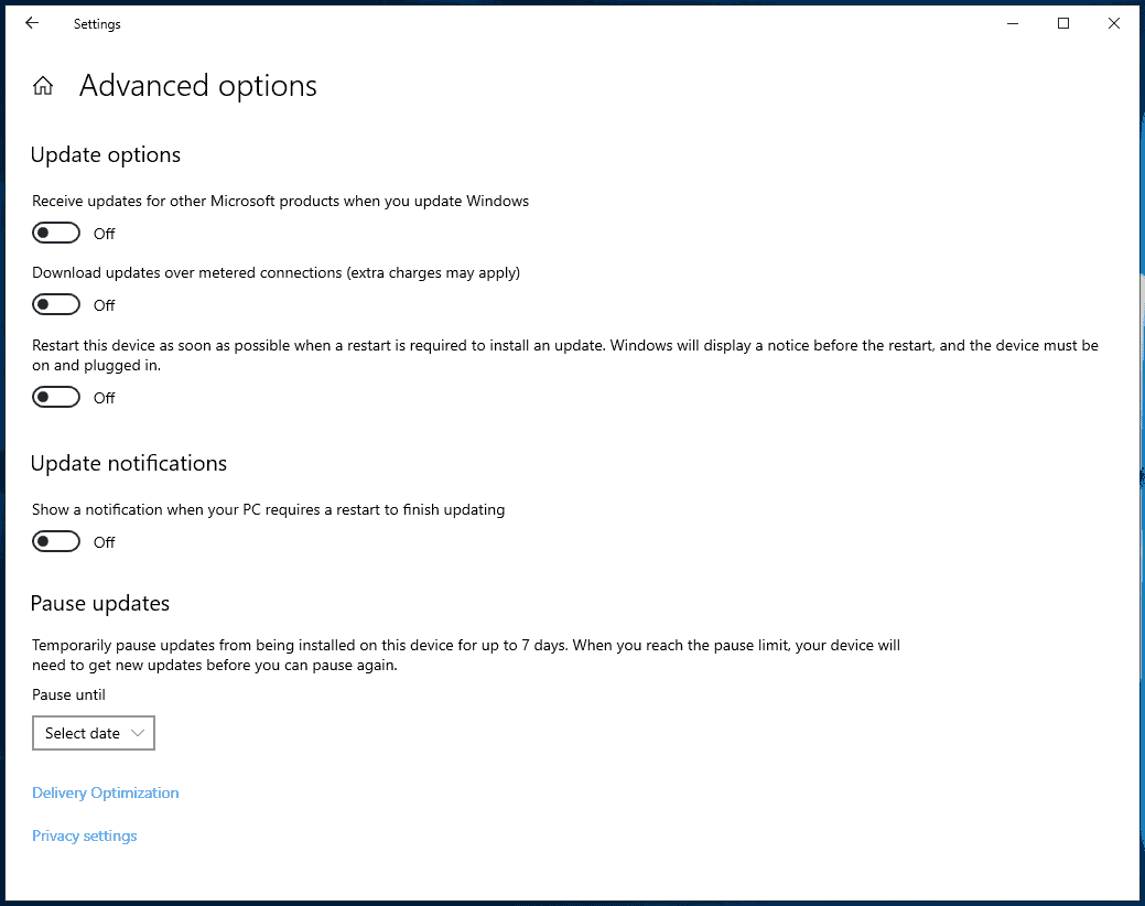 Windows 10 1903: the case of the missing update deferral