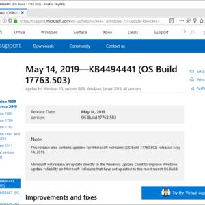windows may 2019 microsoft security updates