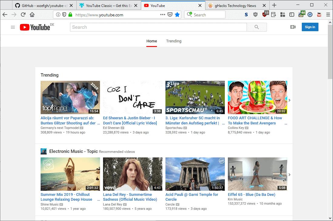youtube classic