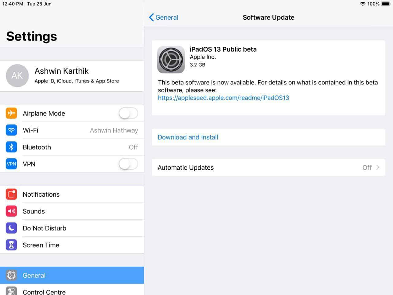 How to install iPadOS public beta