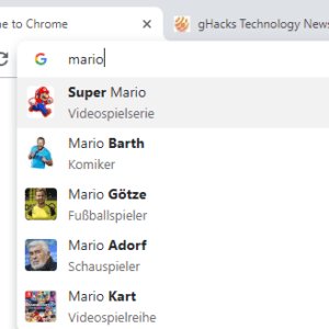 chrome image suggestions