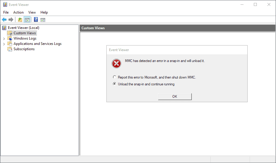 Windows 10: Event Viewer error after installing KB4503293 and