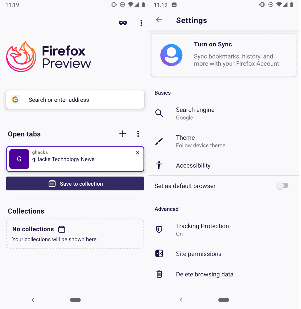 Good news: new Firefox for Android will support extensions