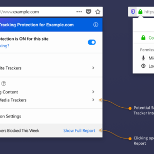 firefox tracking protection panel