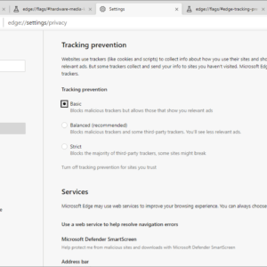 microsoft edge tracking protection