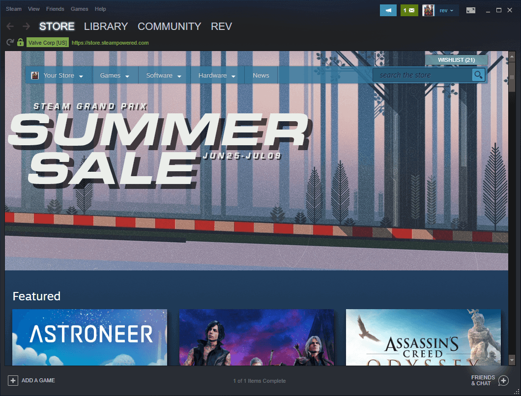 The Steam Summer Sale 2019 has started
