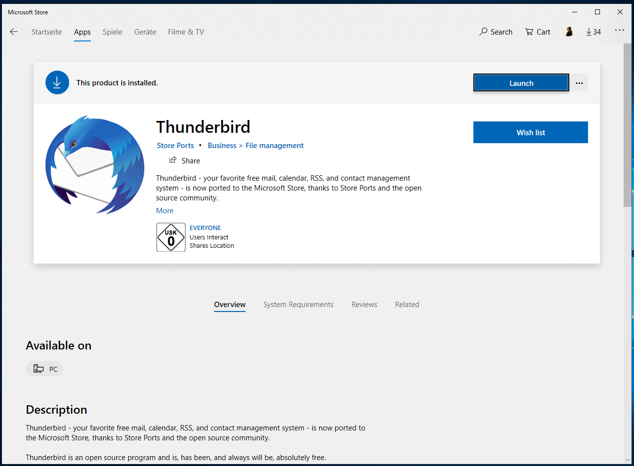 Thunderbird email client lands in Microsoft Store, but who needs it?