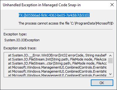 Windows 10: Event Viewer error after installing KB4503293