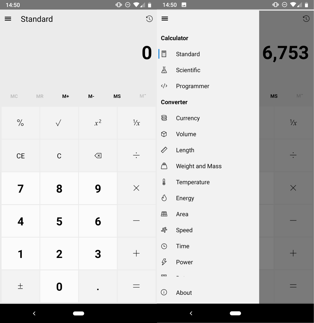 windows calculator android