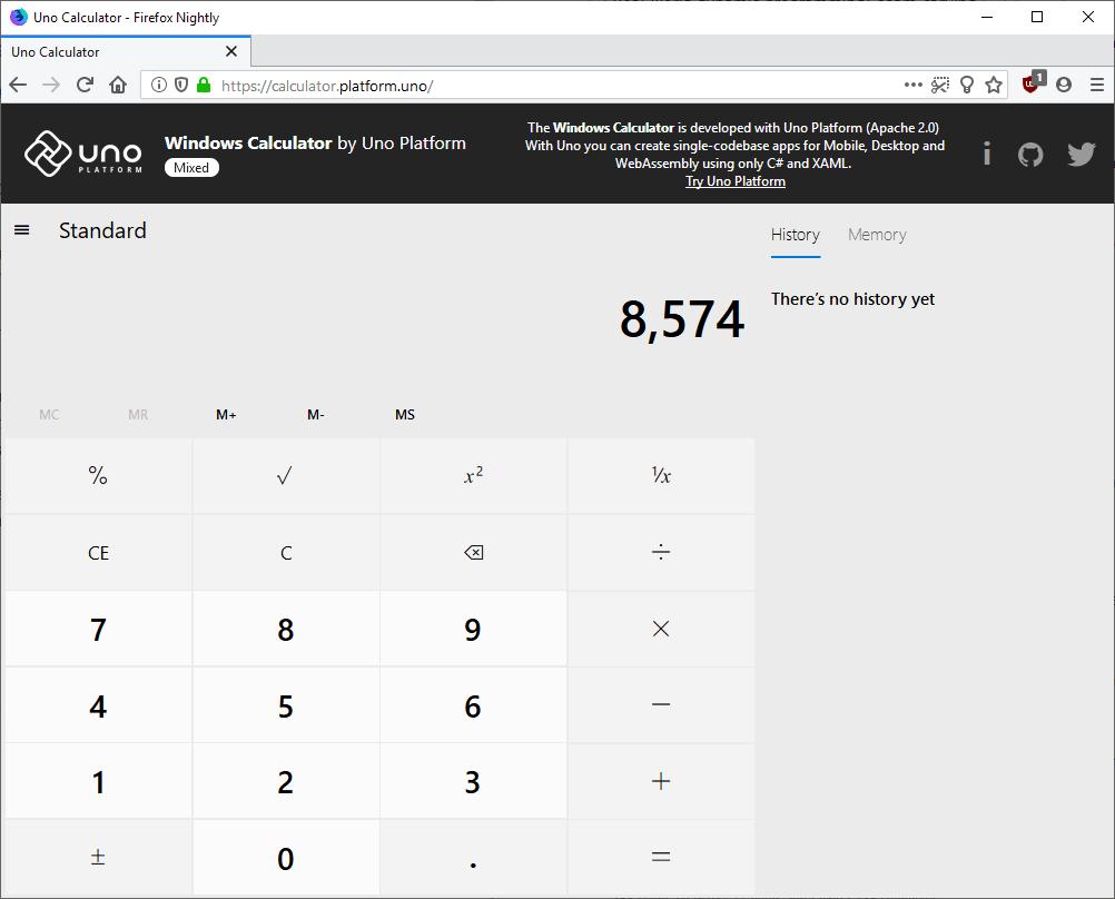 windows calculator web