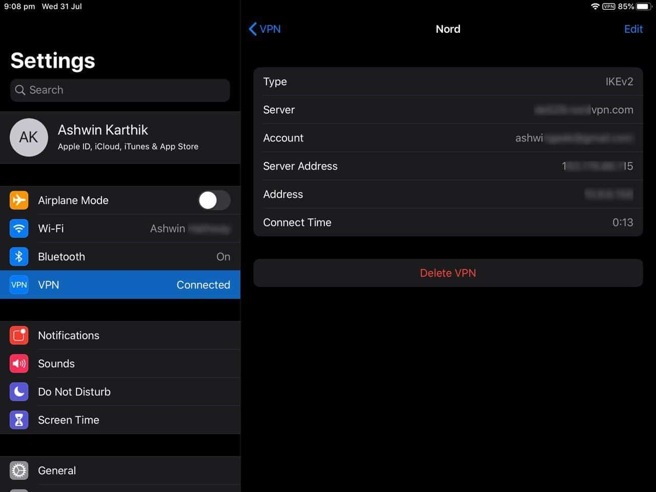 How to set up a VPN in iOS manually IKEv2 ready