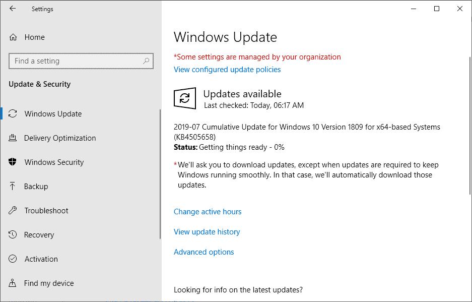 KB4505658 update windows 10