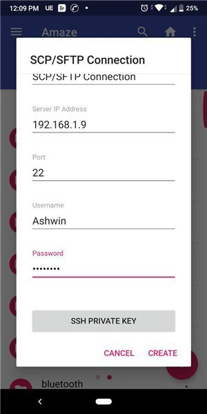 SFTP server Android