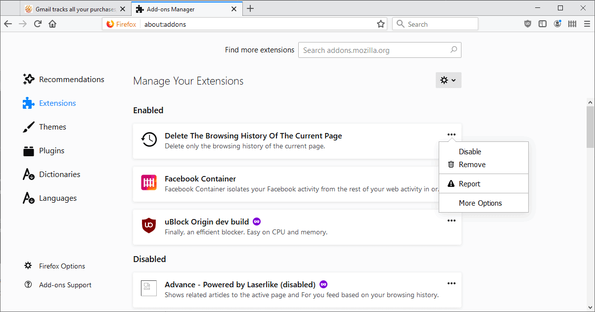 firefox new about addons