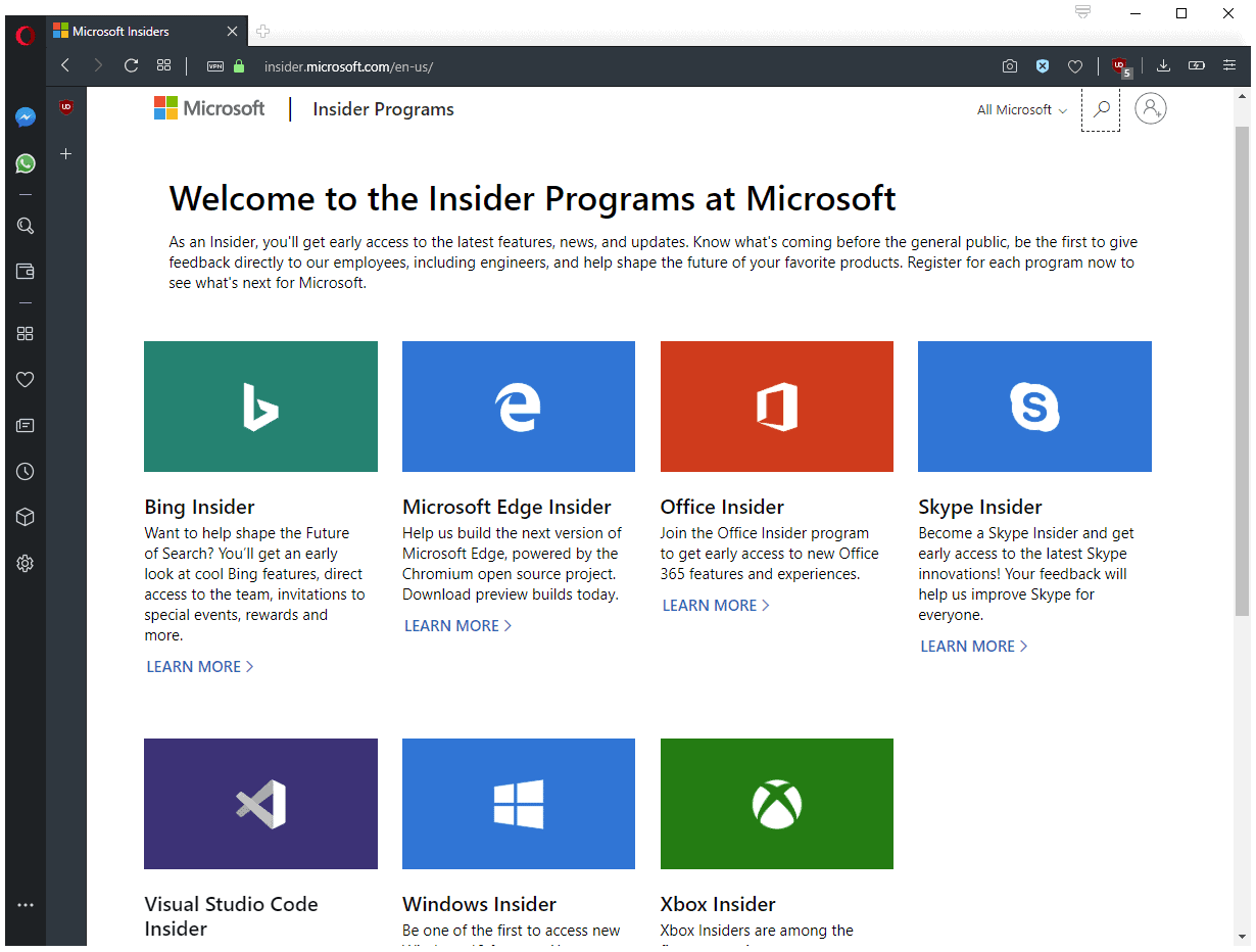 Microsoft launches Hub for all Insider Programs