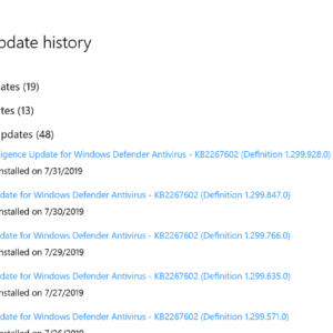 security intelligence update for windows defender antivirus