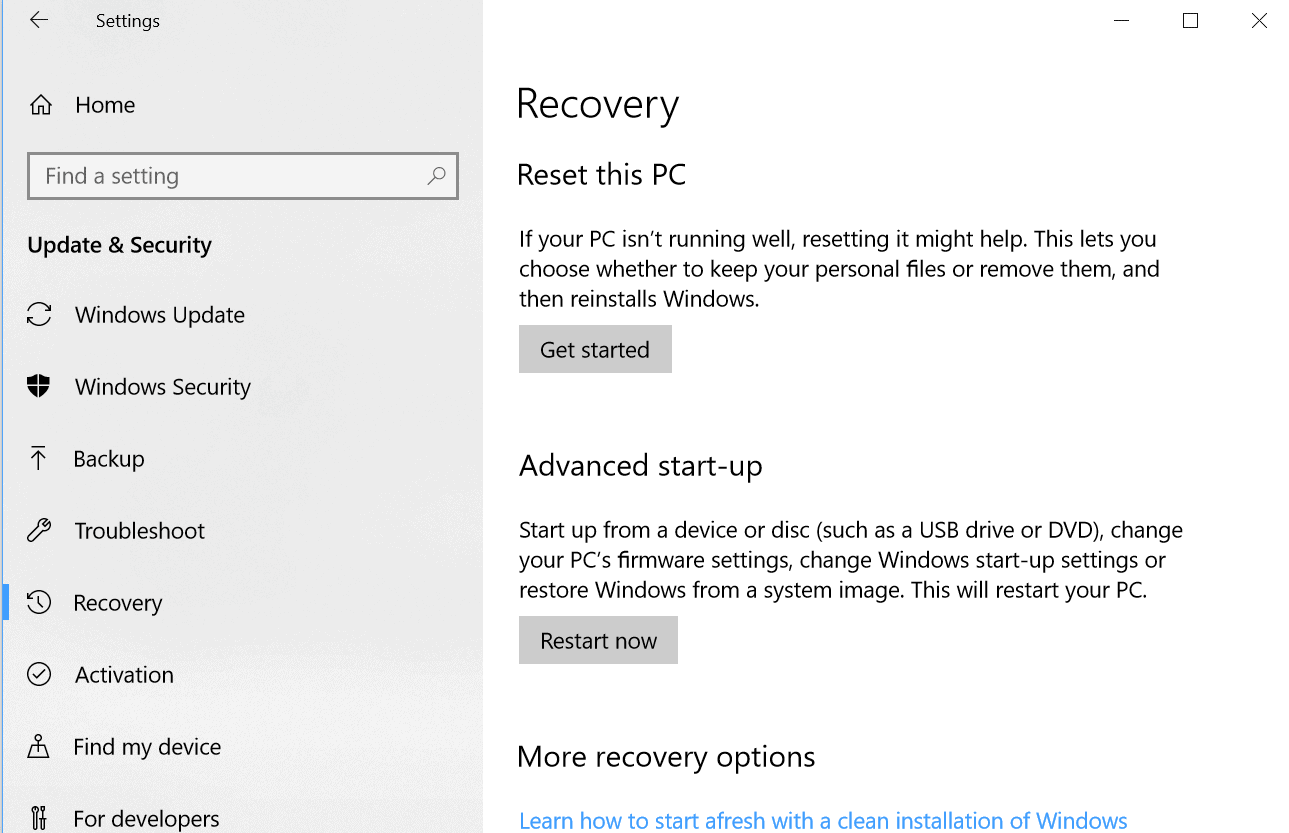 Windows 10 PC Reset Soon with Cloud Download option?