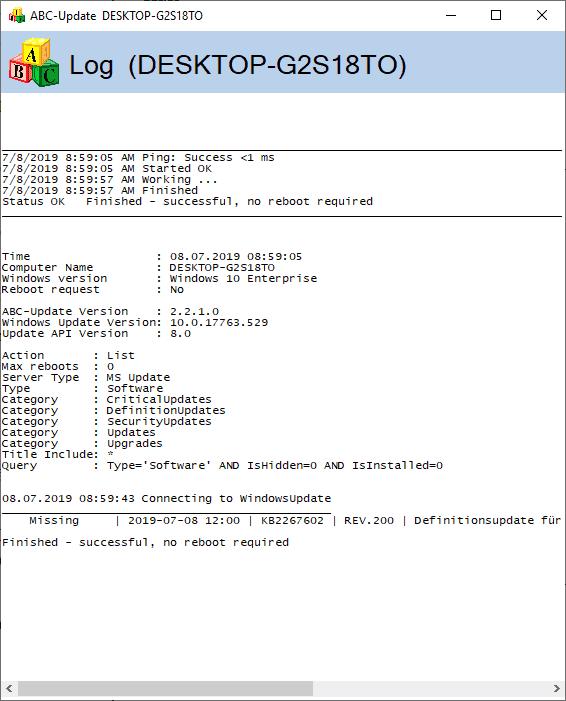 windows updates information