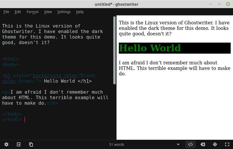 Ghostwriter Linux