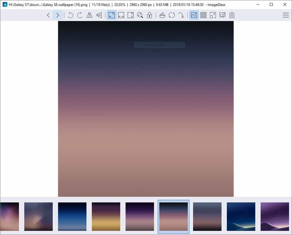 ImageGlass is free image viewer for Windows