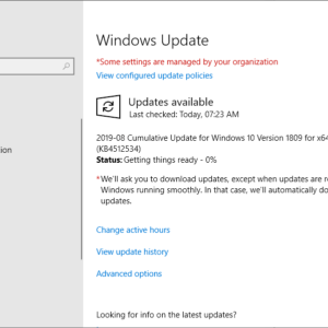 KB4512534 windows 10 1809